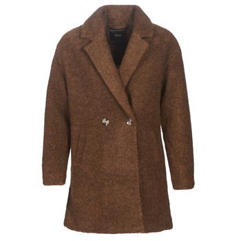 Oblečenie Ženy Kabáty Only ONLNINA Hnedá