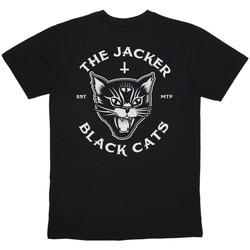 Oblečenie Muži Tričká s krátkym rukávom Jacker Black cats Čierna