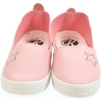 Topánky Ženy Slip-on Pollonus Dámske ružové poltopánky LIMONA ružová