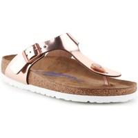 Topánky Ženy Žabky Birkenstock Gizeh BS Zlatá,Béžová