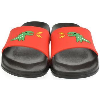 Topánky Deti športové šľapky John-C Detské červené šľapky DINO červená