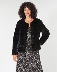 Oblečenie Ženy Kabáty Lauren Ralph Lauren FAUX CHUBBY Čierna