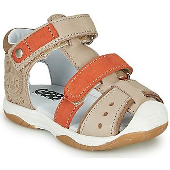 Topánky Chlapci Sandále GBB EUZAK Béžová / Oranžová