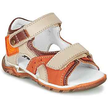 Topánky Chlapci Sandále GBB EROPE Béžová / Oranžová
