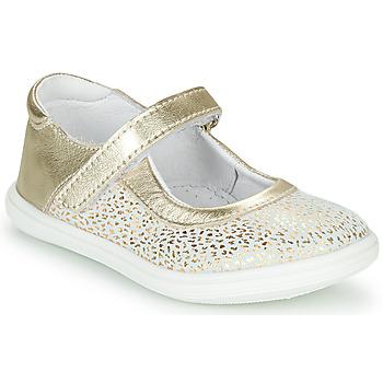 Topánky Dievčatá Balerínky a babies GBB PLACIDA Biela / Zlatá