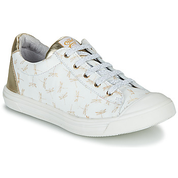 Topánky Dievčatá Nízke tenisky GBB MATIA Biela / Zlatá