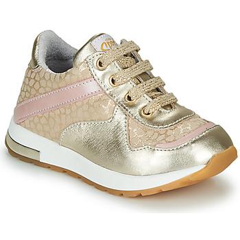 Topánky Dievčatá Nízke tenisky GBB LELIA Zlatá / Béžová