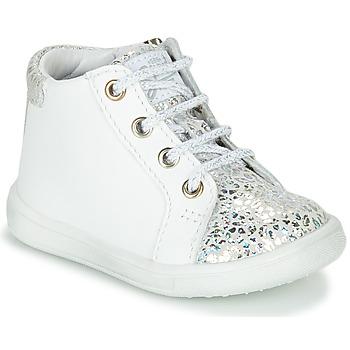 Topánky Dievčatá Členkové tenisky GBB FAMIA Biela / Strieborná