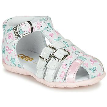 Topánky Dievčatá Sandále GBB RIVIERA Biela / Ružová