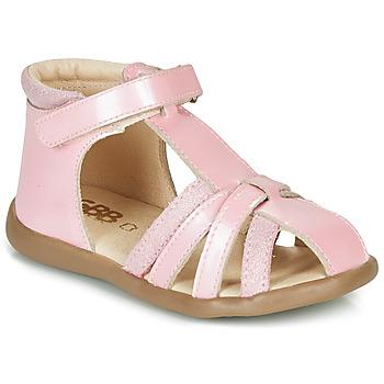 Topánky Dievčatá Sandále GBB AGRIPINE Ružová