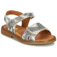 Topánky Dievčatá Sandále GBB CAVOLA Biela / Čierna