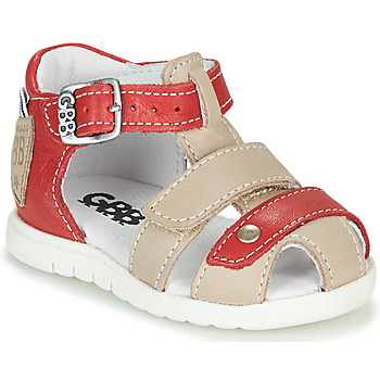 Topánky Chlapci Sandále GBB BASILA Červená / Béžová