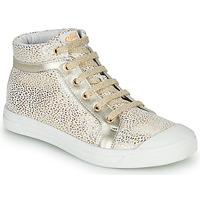 Topánky Dievčatá Členkové tenisky GBB NAVETTE Biela / Zlatá