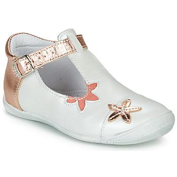 Topánky Dievčatá Balerínky a babies GBB ANAXI Biela / Ružová / Zlatá