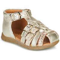 Topánky Dievčatá Sandále GBB PERLE Zlatá