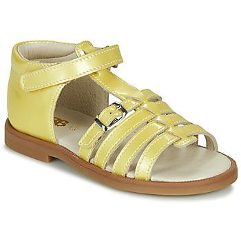Topánky Dievčatá Sandále GBB ANTIGA Žltá