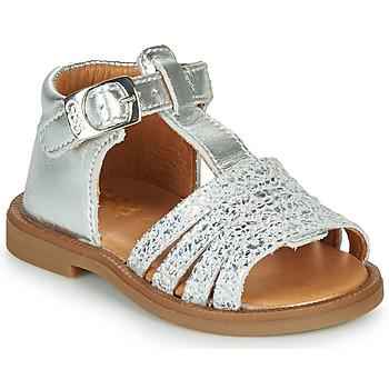Topánky Dievčatá Sandále GBB ATECA Strieborná