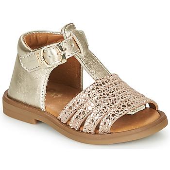 Topánky Dievčatá Sandále GBB ATECA Zlatá