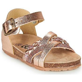Topánky Dievčatá Sandále GBB ALECTA Ružová / Zlatá