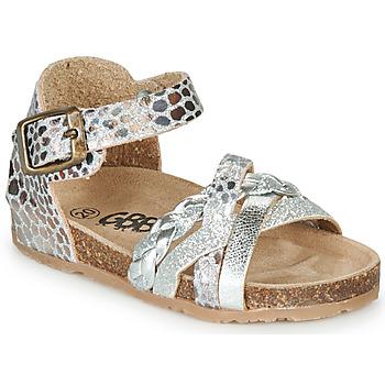 Topánky Dievčatá Sandále GBB ALECTA Strieborná