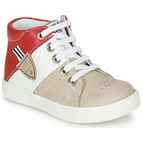 Topánky Chlapci Členkové tenisky GBB AMOS Béžová / Biela / Červená