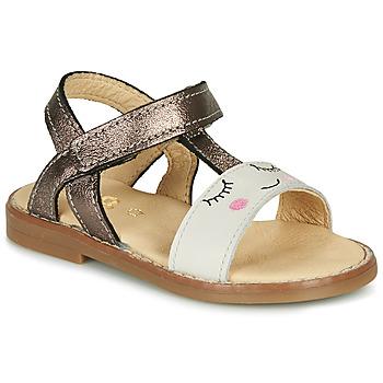 Topánky Dievčatá Sandále GBB NAZETTE Béžová / Bronzová