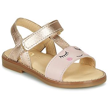 Topánky Dievčatá Sandále GBB NAZETTE Ružová