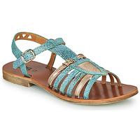 Topánky Dievčatá Sandále GBB FANNI Modrá / Zlatá