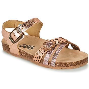 Topánky Dievčatá Sandále GBB PANORA Ružová / Zlatá
