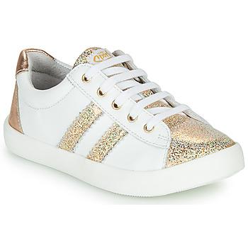 Topánky Dievčatá Nízke tenisky GBB MAPLUE Biela / Zlatá