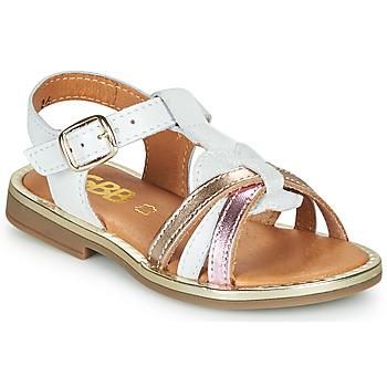 Topánky Dievčatá Sandále GBB EGEA Biela