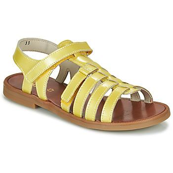 Topánky Dievčatá Sandále GBB KATAGAMI Žltá
