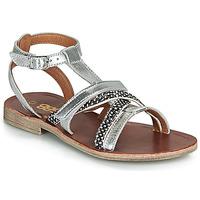 Topánky Dievčatá Sandále GBB JULIA Strieborná