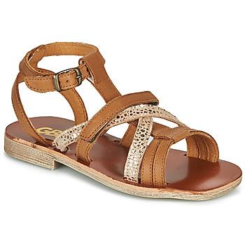 Topánky Dievčatá Sandále GBB JULIA Hnedá