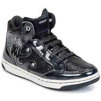 Topánky Dievčatá Členkové tenisky Geox CREAMY A Čierna