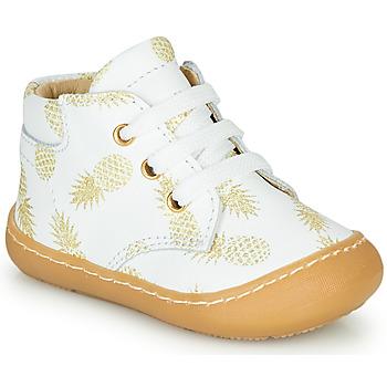 Topánky Dievčatá Členkové tenisky GBB ATARINA Biela / Zlatá