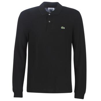 Oblečenie Muži Polokošele s dlhým rukávom Lacoste L1312 Čierna