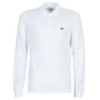 Oblečenie Muži Polokošele s dlhým rukávom Lacoste L1312 Biela