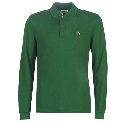Oblečenie Muži Polokošele s dlhým rukávom Lacoste L1312 Zelená