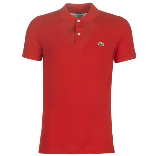 Oblečenie Muži Polokošele s krátkym rukávom Lacoste PH4012 SLIM Červená