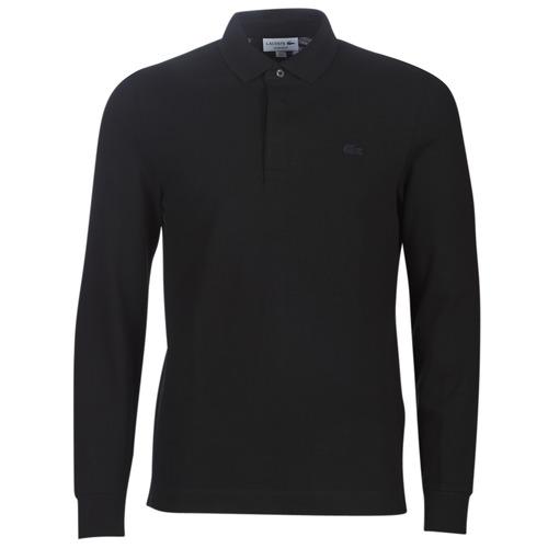 Oblečenie Muži Polokošele s dlhým rukávom Lacoste PH2481 REGULAR Čierna