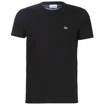 Oblečenie Muži Tričká s krátkym rukávom Lacoste TH6709 Čierna