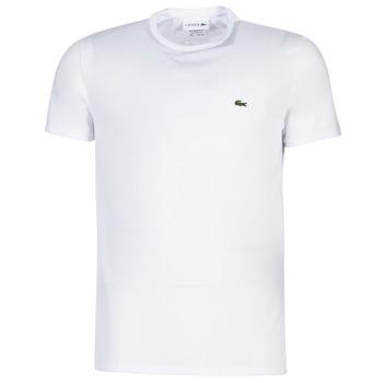 Oblečenie Muži Tričká s krátkym rukávom Lacoste TH6709 Biela