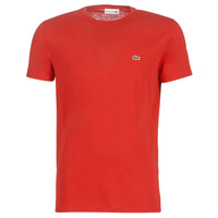 Oblečenie Muži Tričká s krátkym rukávom Lacoste TH6709 Červená
