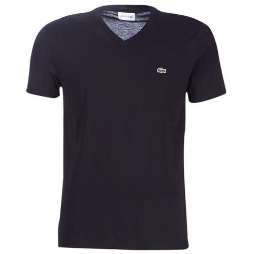 Oblečenie Muži Tričká s krátkym rukávom Lacoste TH6710 Čierna