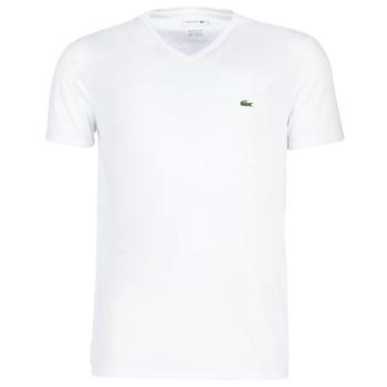 Oblečenie Muži Tričká s krátkym rukávom Lacoste TH6710 Biela