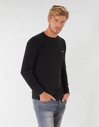 Oblečenie Muži Tričká s dlhým rukávom Lacoste TH6712 Čierna