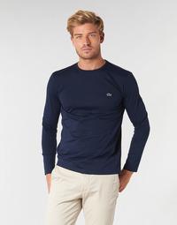 Oblečenie Muži Tričká s dlhým rukávom Lacoste TH6712 Námornícka modrá