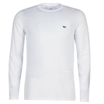 Oblečenie Muži Tričká s dlhým rukávom Lacoste TH6712 Biela