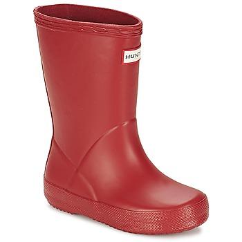 Topánky Deti Čižmy do dažďa Hunter KIDS FIRST CLASSIC Červená